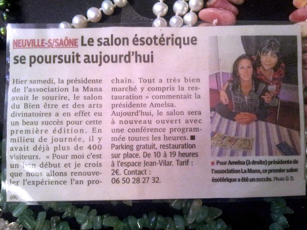 Article paru dans le journal Le Progrès