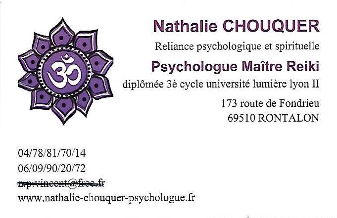 Nathalie CHOUQUER carte visite recto