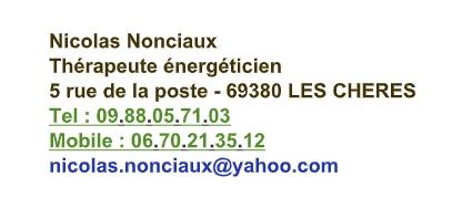 Nicolas Nonciaux carte de visite