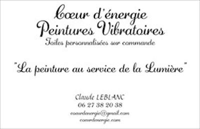 Claude Leblanc carte de visite